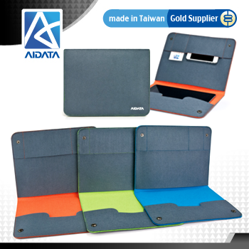 AIDATA Wool Felt Tablet Snaps Sleeve