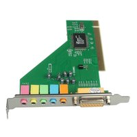 PCI 6 Channel 3D Sound Audio Card CMI8738-MX Chipset 5.1 Channel Intenral PC Sound Adapter