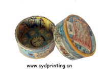 Office printed paper cylindrical round gift box