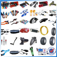 Motorcycle spare parts and motorbike body parts:rearview mirror,handle grips,muffler,clutch brake lever