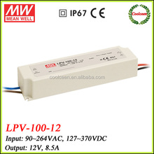 Meanwell LPV-100-12 100w waterproof led power supply
