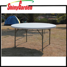 Best sell 4Ft folding in half round plastic table