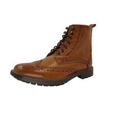 2018 new wholesale shoe leather dress boots mens
