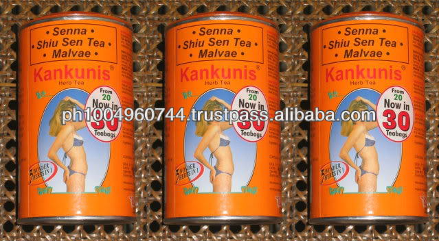 3 Cans Kankunis Herbal Natural Slimming 90 Tea Bags