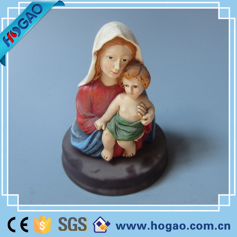 Resin jesus mother mary religious statues mary and baby jesus statue