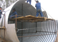 metal road culvert /900mm corrugated culvert pipe/ half circle metal corrugated pipe