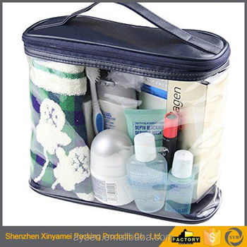 Fashion PVC Ziplock Bag For Packing Cosmetic Clear/Custom fluorescent pvc cosmetic bag wholesale/makeup plastic bag