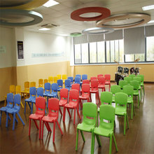 Factory price colorful modern plastic chair