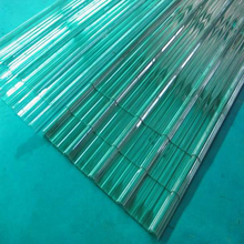 transparent corrugated plastic roofing sheet/clear plastic roof covering