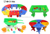 FDA CE tests passed 100% new Plastic LOW price Factory china supplier sandbox kids table set FUN beach sand toys