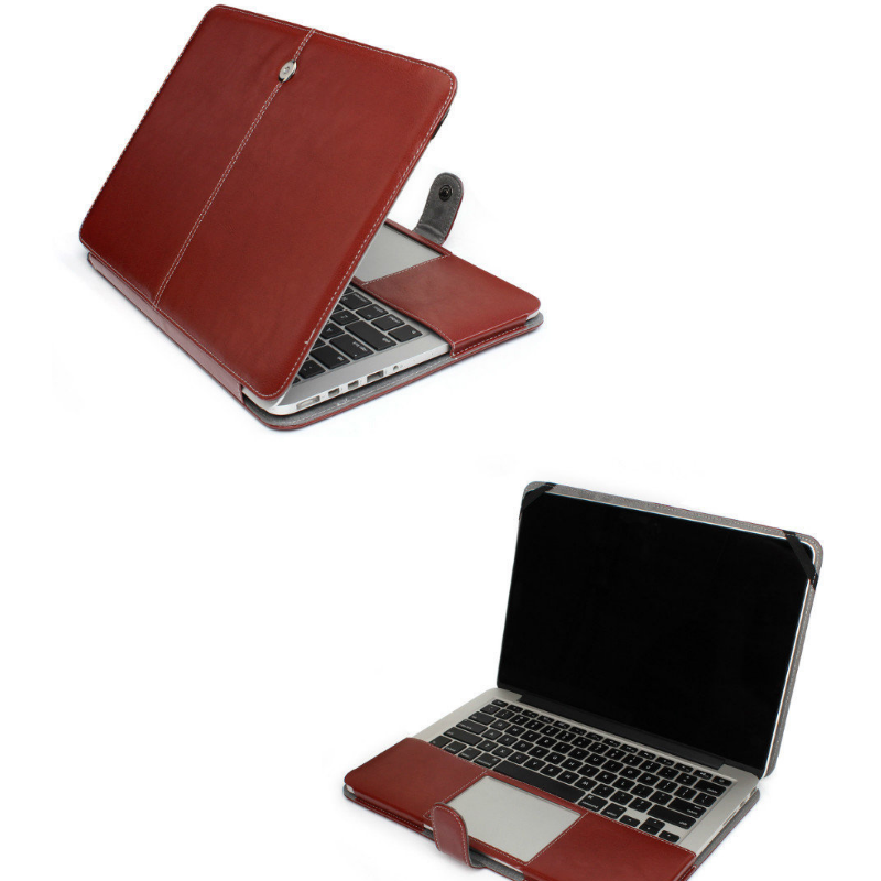 Wholesale factory price brown for macbook air 13 case leather sleeve, For MacBook Air Leather Cover