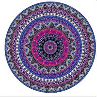 Custom high quality printed microfiber round beach towel