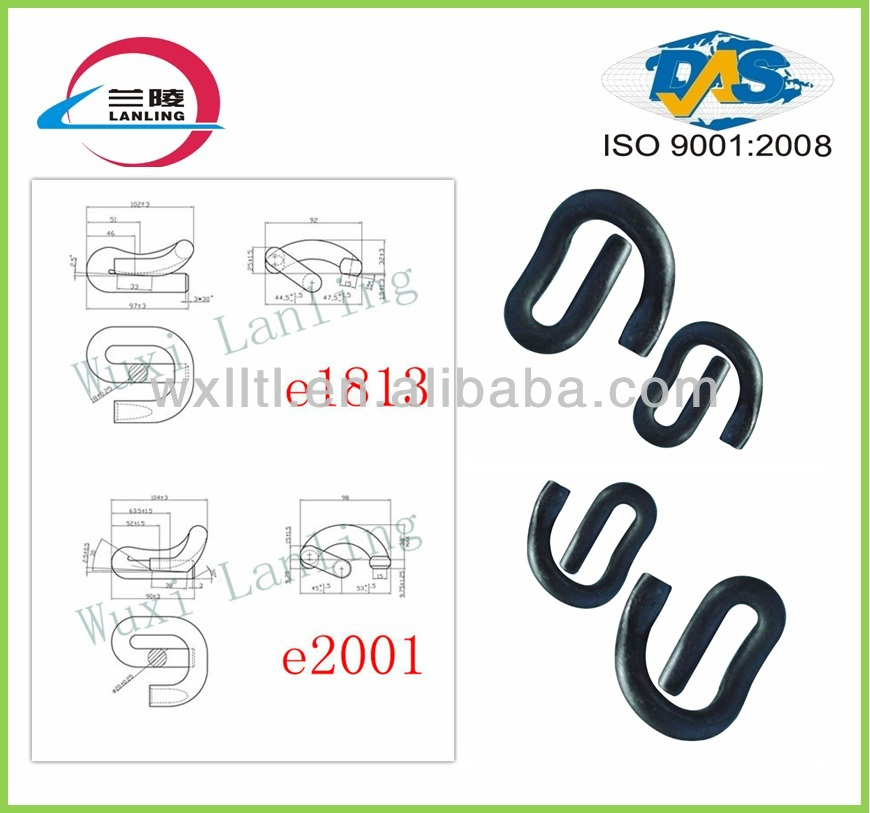 Spring steel clips for railway
