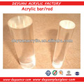 Clear cast perspex curtain rod