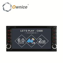 Ownice factory price Octa core Android 6.0 double din universal car head unit for toyota univresal with RDS support DSP dvr TV