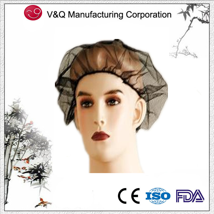 Xiantao Factory disposable nylon black hair net with elastic