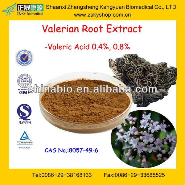 GMP Factory Supply High Quality Valerian Root Extract Powder