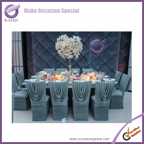 YT09873 banquet polyester spandex factory ruffled chair cover