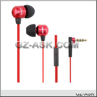 high quality popular flat cable earphone with mic for mobile phone, mp3/mp4 ASK iPiPoo 20i