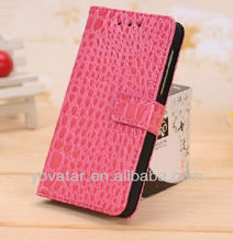 Crocodile leather wallet case for blackberry z 10