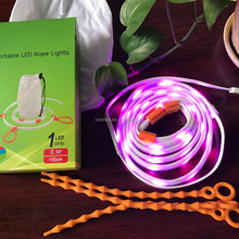 Portable USB LED Strip Light Waterproof 1.5m Flexible Strip Rope and Lantern for Camping Hiking Emergeny