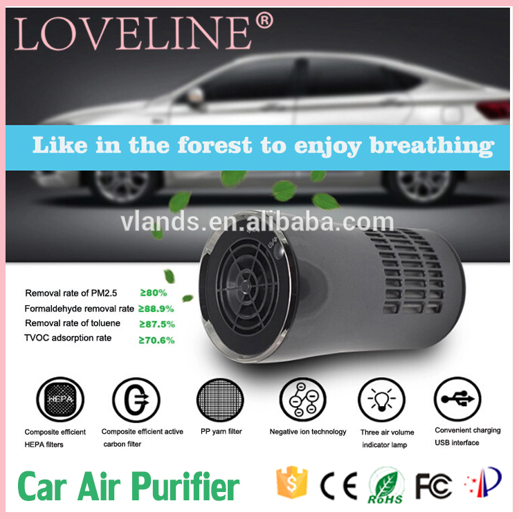 OEM Cheap Original Cute Negative Ion Smart Car Air Purifier Out door