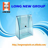 clear pvc plastic bag with snap button pvc bag with button