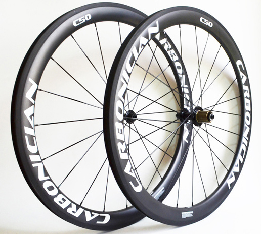 Carbonician 700c road bike basalt brake 50mm clincher chinese cheap carbon wheels