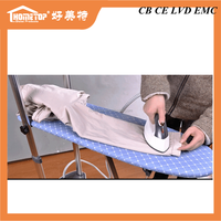 Ceramic coated steam nozzle , 1.6L portable steam iron / movable electric steam press irons