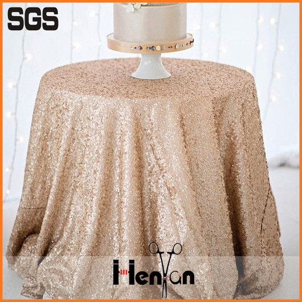 wholesale sequin wedding tablecloth