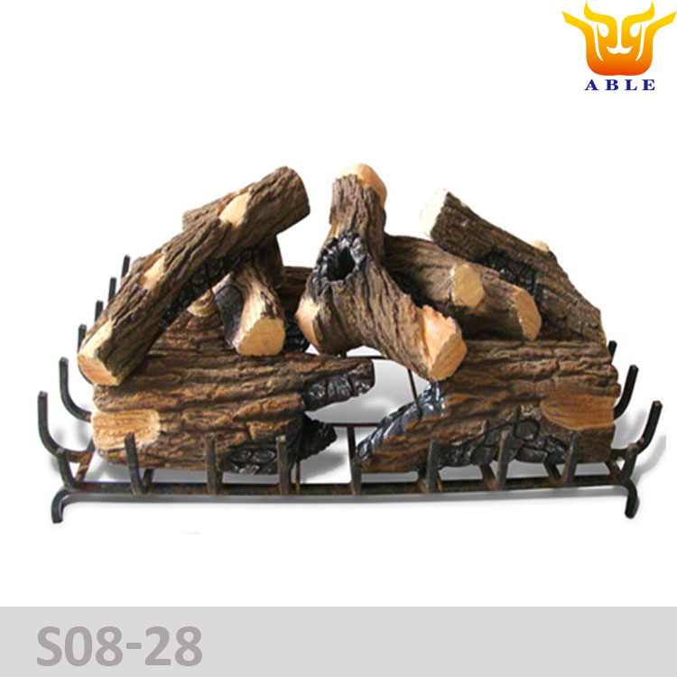 Gas log Gas fireplace stove log Gas fire ceramic wood