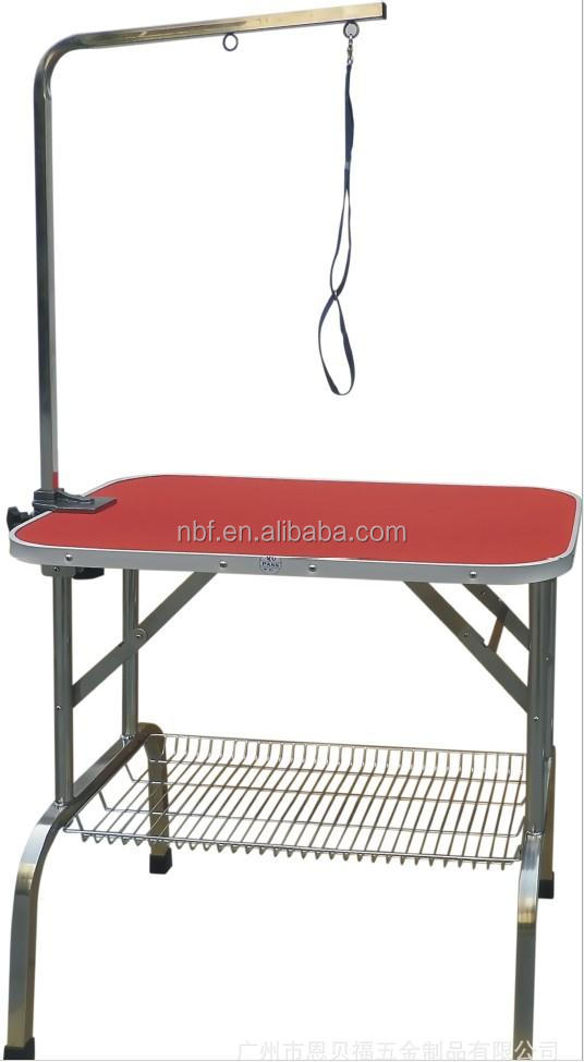 NBF Stainless Steel New Adjustable Pet Cat Dog Grooming Table