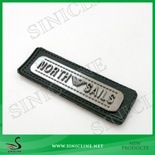 Sinicline Leather Patch With Metal Logo For Men's Wallet