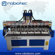 3D CNC Wood Carving Machine/Multi Heads Wood CNC Router Machine Price DM-1325-6