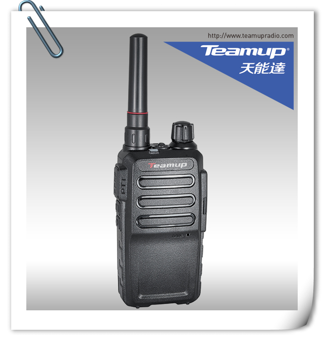 Teamup T2 radio  same as  WLN KD-C1 2W UHF Ham two way radio used walkie talkie