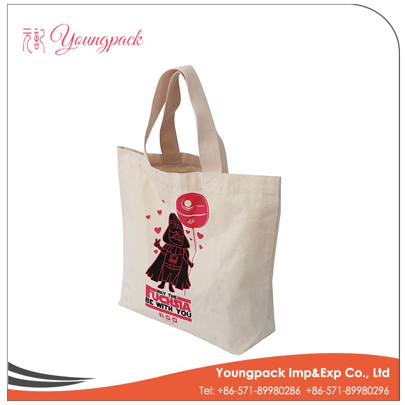 Customized Wholesale Handle Canvas Cotton tote bag