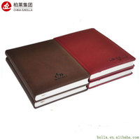 Custom Recycled Spiral Paper Leather School Planner Notebook Printing With Pen