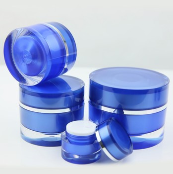 5g 30g 50g acrylic cream jar blue