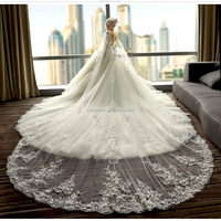 high quality Suzhou factory price long trail elegent wedding dress 2017