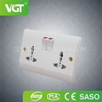 Cheap price wholesale popular double bakelite 13a switch socket