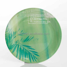 10inch bamboo dinner custom printed wholesale melamine plates