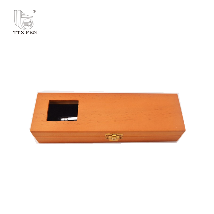 High Quality Wooden Memorial Fancy Fountain Pen Display Gift Box