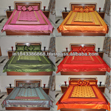 Wholesaler Of Bedsheet Silk Brocade Living Room Bed Room Colorful Bed Cover indian brocade silk bedspreads