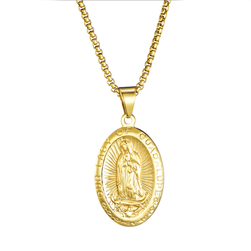 New Stainless Steel Religious Belief <strong>Jewelry</strong> Our Lady Of Guadalupe Necklace