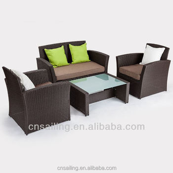 All Weather Outdoor Rattan Furniture Sofa Set