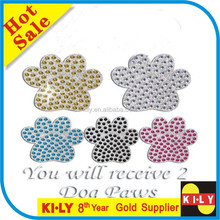 Dog Paw Self Adhesive Bling Crystal Rhinestone Sticker on Book Decor