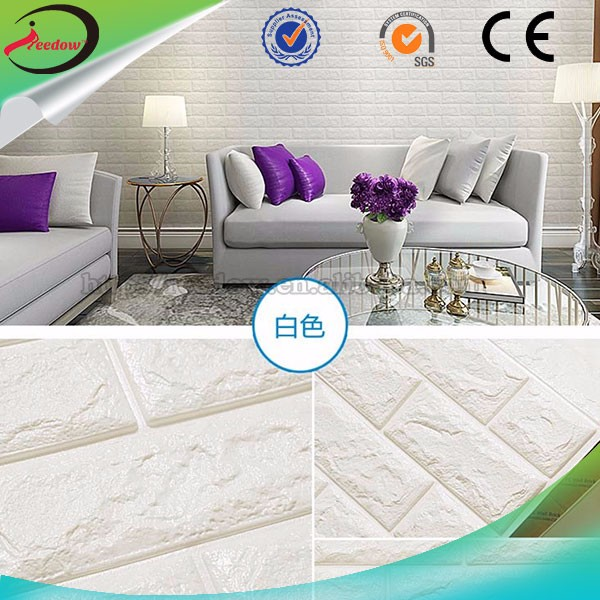 3d modern wall paper roll for restaurant hotel luxury pe foam wallpaper sticker wall panel