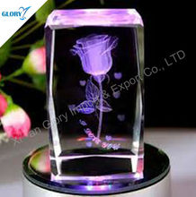 Crystal 3D laser music box for wedding favor