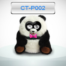 2014 hottest children electronic toy panda with 3AA batteries control and touch function