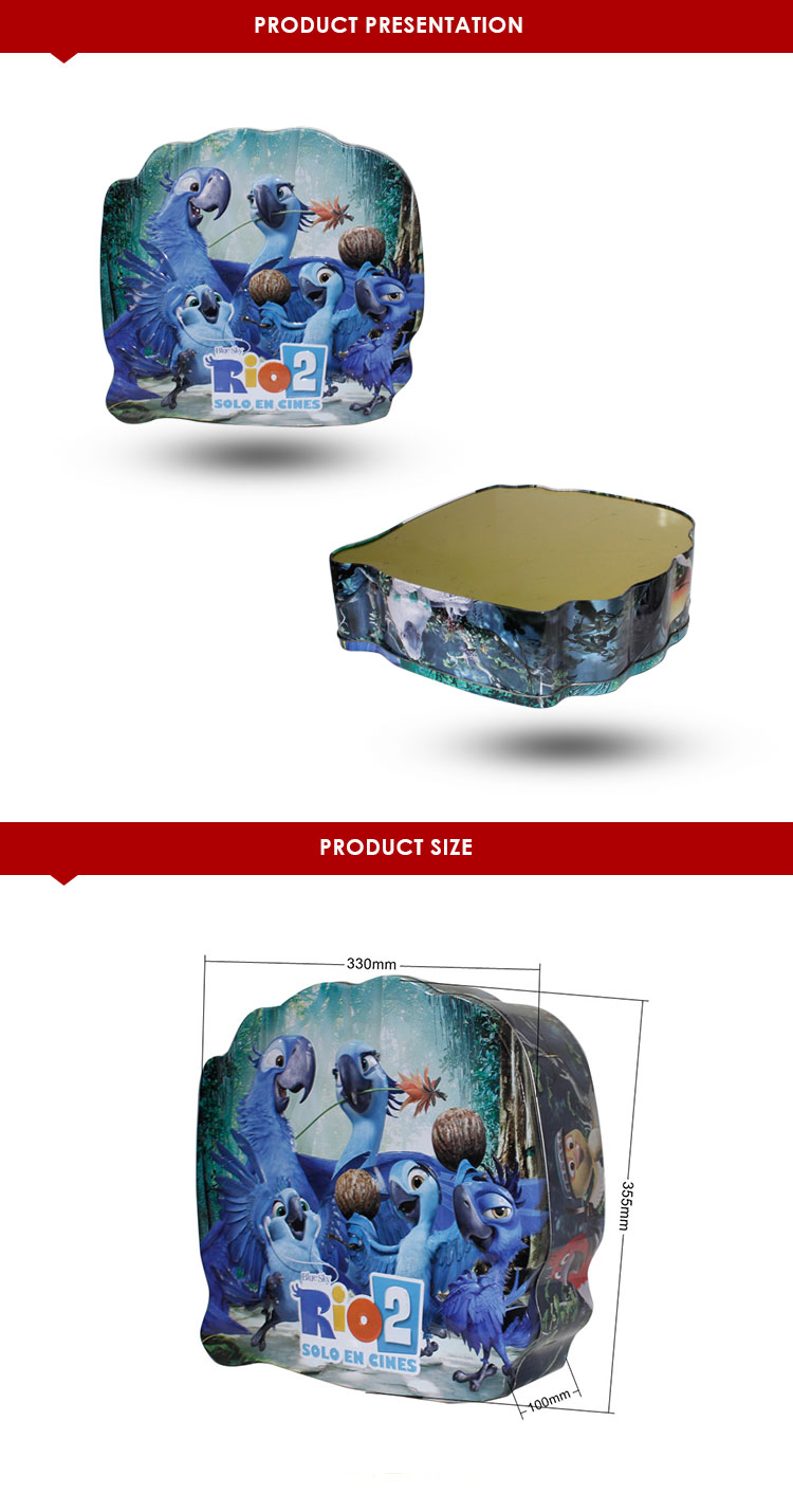 large empty  tools  storage tin packaging box